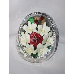 """Ваза """"Розы и Орхидеи"""""""