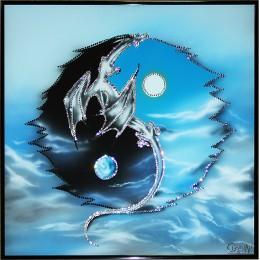 Инь-ян с драконом