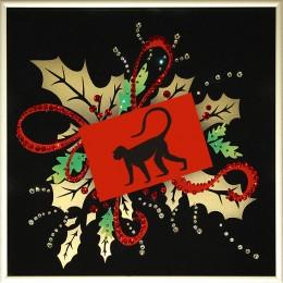 Новогодняя открытка- Год обезьяны
