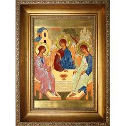 """Икона """"Святая Троица"""" (стеклопечать)"""
