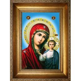 Казанская Божья Матерь (стеклопечать)