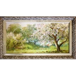 Весенний сад ( в багете)