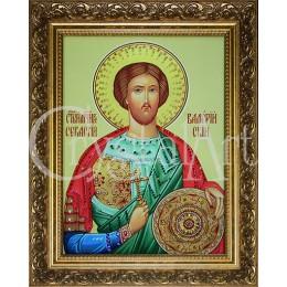 Икона Св. Валерий (стеклопечать)