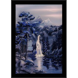 Водопад в ночи