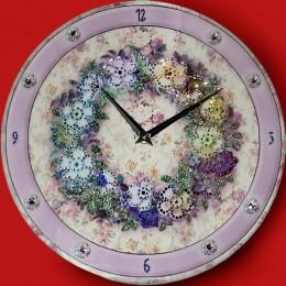 """Часы""""Цветочный орнамент"""""""