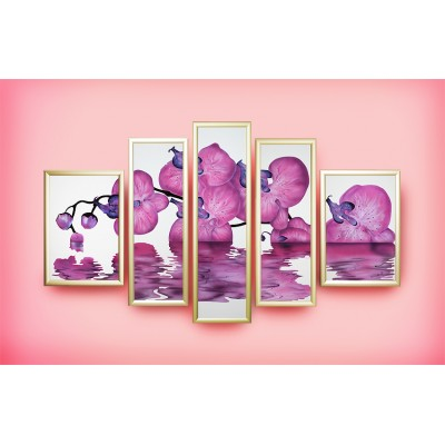 "Композиция ""Сиреневая орхидея"""