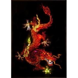 Дракон с жемчужиной (красные тона)