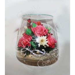"""Ваза """"Розы и орхидеи """" № 2"""