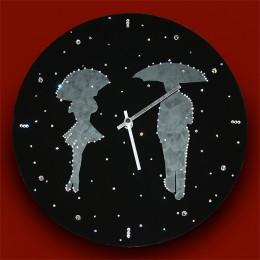 """Часы """"Влюбленные под дождем"""""""
