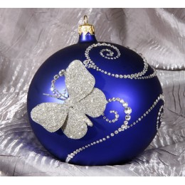Новогодний синий шар