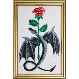 Дракон с розой