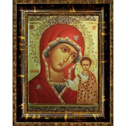 Казанская Божья Матерь(стеклопечать)