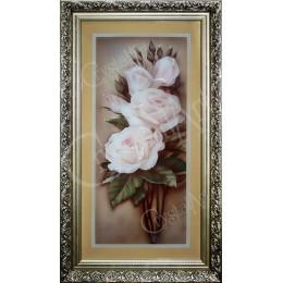 Белая роза (в багете)