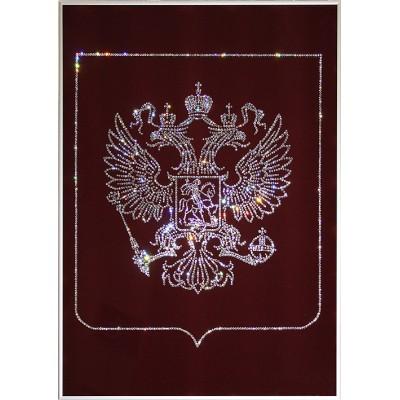 Герб РФ( бордовый фон)